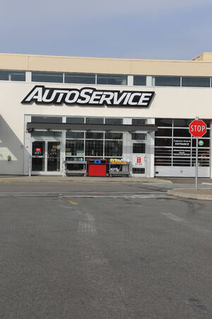 Port Coquitlam, CANADA - February 26 : Auto Service store in Port Coquitlam BC Canada. Canadian Tire Corporation operations include Canadian Tire, the core retail and automotive service operation.