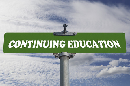 Continuing education road sign photo