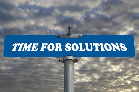 solutions freeway: Time for solutions road sign