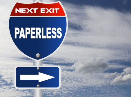 paperless: Paperless road sign