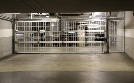 garage: Parking garage underground interior Editorial
