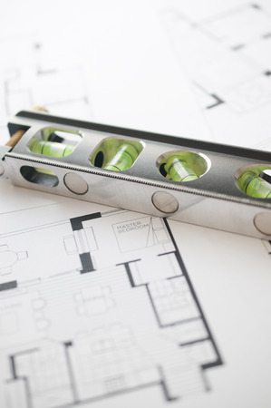 floorplan: Prepares the architectural floorplan for a residence  Stock Photo