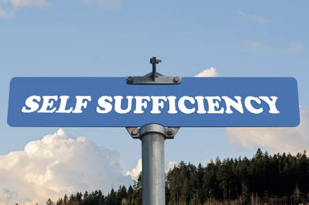 brighter: Self sufficiency road sign