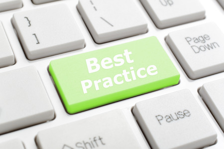 best: Green best practice key on keyboard