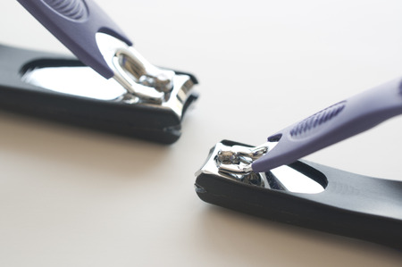 clippers: Nail clippers on white background  Stock Photo