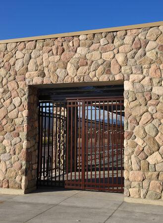 balustrade: Brick wall and balustrade door