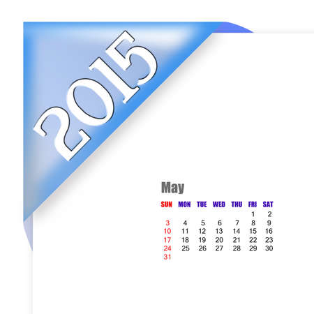 May 2015 - Calendar series with coner fold design photo