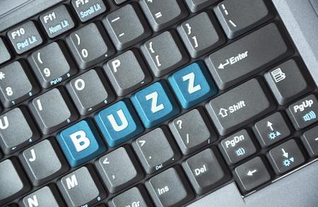 Blue buzz key on keyboard Stock Photo