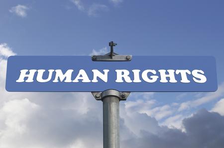 derechos humanos: Los derechos humanos señal de tráfico