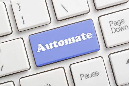 automate: Blue automate key on keyboard Stock Photo