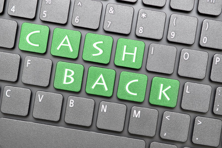 cash back: Green cash back key on keyboard
