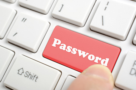Pressing red password key on keyboard