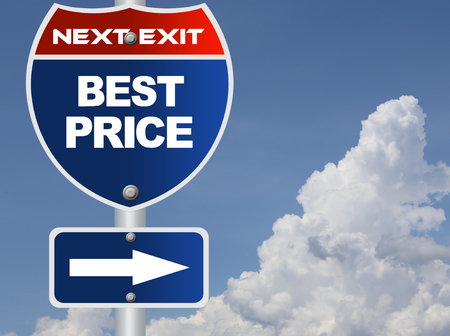 at best: Best price road sign