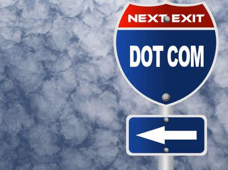 dot com: Dot com road sign
