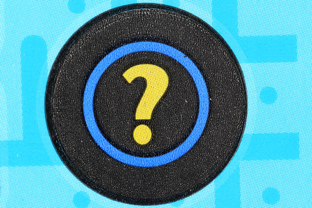 sanctioned: Coquitlam BC Canada - June 04, 2015 : Close up question mark section on lottery ticket. The British Columbia Lottery Corporation has provided government sanctioned lottery games in British Columbia since 1985.