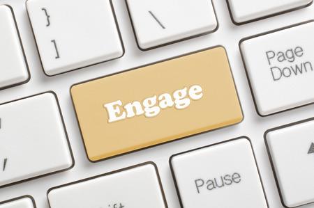 Brown engage key on keyboard