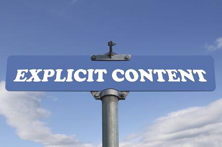 explicit: Explicit content road sign