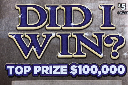 sanctioned: Coquitlam BC Canada - October 24, 2015 : Close up did I win lottery ticket. The British Columbia Lottery Corporation has provided government sanctioned lottery games in British Columbia since 1985.