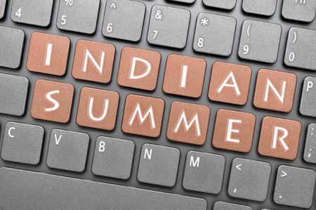 gunmetal: Gunmetal indian summer key on keyboard Stock Photo