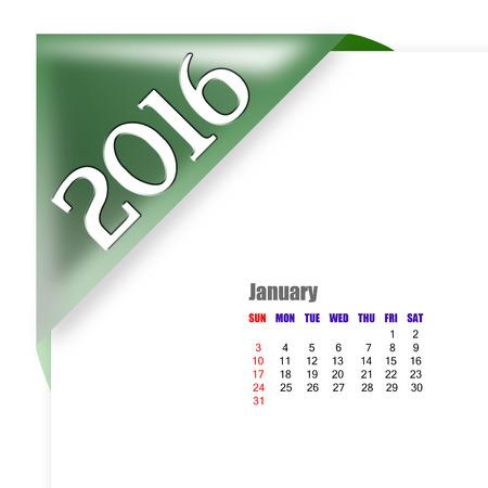 diary: 2016 January calendar