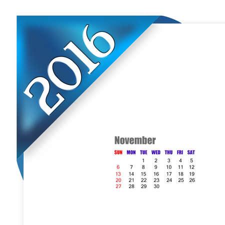 calendario noviembre: CALENDARIO Noviembre 2016