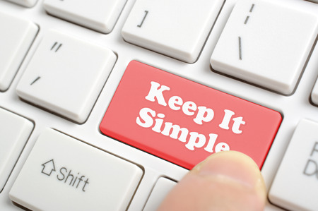 Pressing red keep it simple key on keyboard