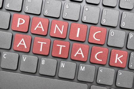 panic attack: Red panic attack key on keyboard