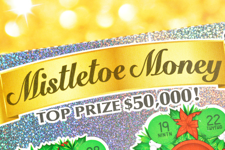 Coquitlam BC Canada - December 19, 2015 : Close up lottery ticket. The British Columbia Lottery Corporation has provided government sanctioned lottery games in British Columbia since 1985. Editorial
