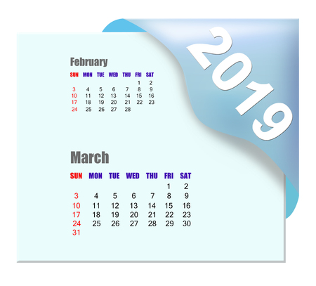 2019 March calendar Zdjęcie Seryjne