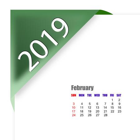 2019 February calendar Zdjęcie Seryjne
