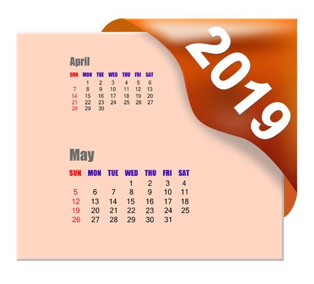 2019 May calendar Zdjęcie Seryjne