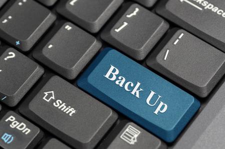Blue back up key on keyboard