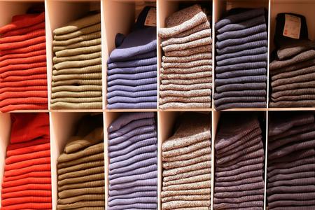 Various kind of socks at display socks cabinet