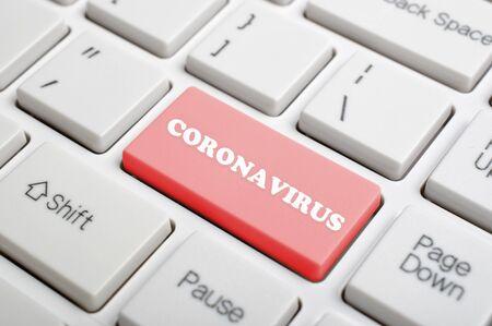 Coronavirus key on keyboard