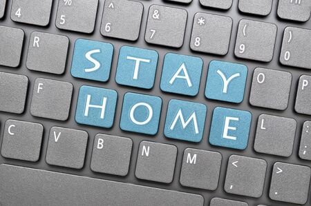 Stay home key on keyboard Archivio Fotografico - 144338098