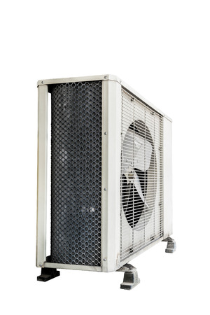 Air conditioner isolate on white background photo