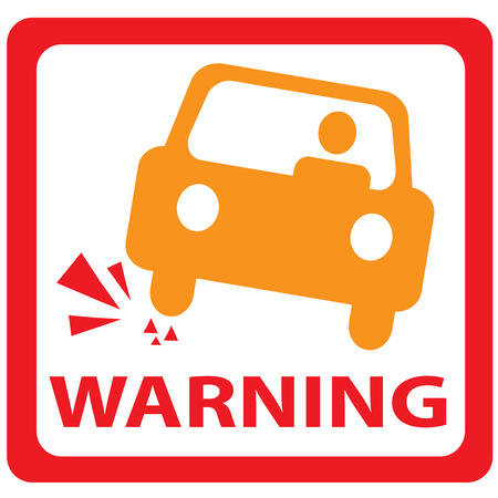 landslide: warning car signs Illustration