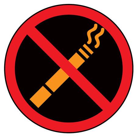 smoldering: non fumare segno vettore