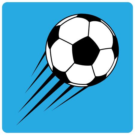 speed line: calcio vettore di pallone da calcio con la linea velocit�