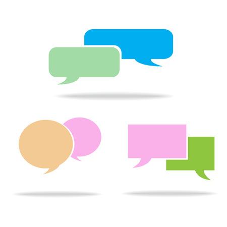 Vector speech bubble icons Vector