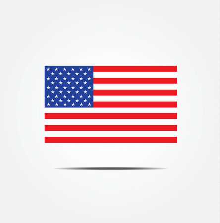 president of usa: Illustration of the USA flag icon