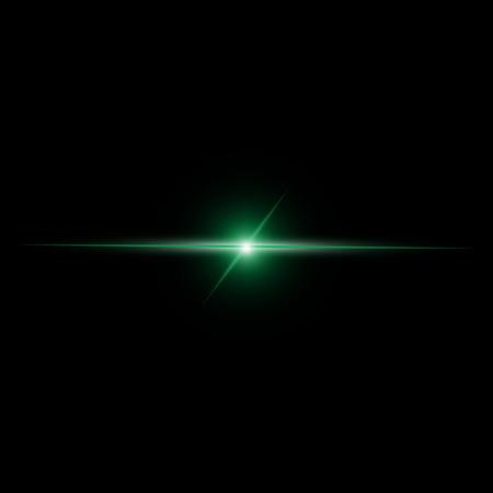 beam: Abstracte groene straal Licht vector