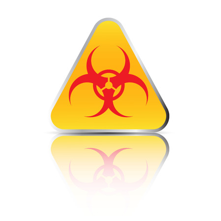 infectious waste: Biohazard sign. Illustration on white background for design