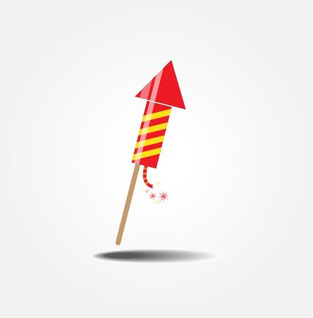dangerous work: color fireworks rocket