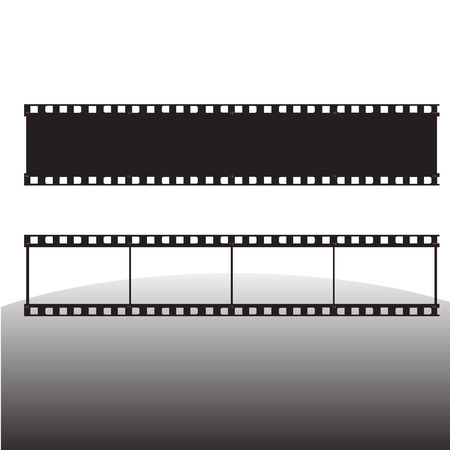 photographic film:  film strip vector illustration