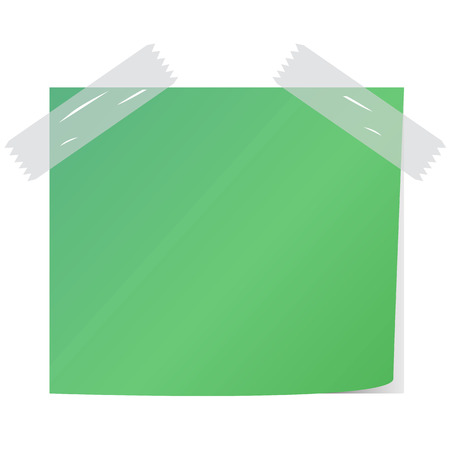 paper note: blank green color  paper note vector