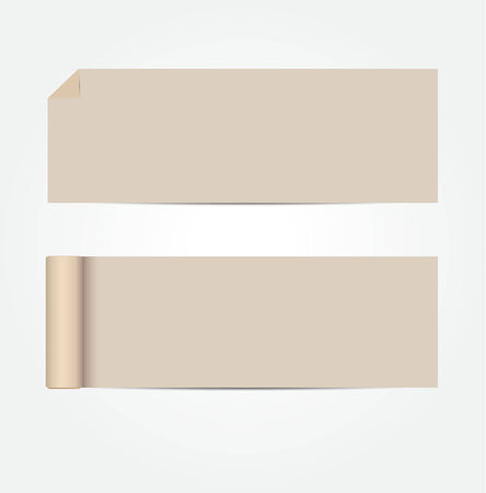 brownish: Blank brownish cards with shadows  vector illustration Illustration