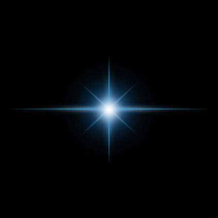 Star burst  light beam vector Illustration