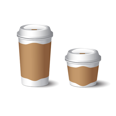 take out food container: Paper coffee cup vector Illustration
