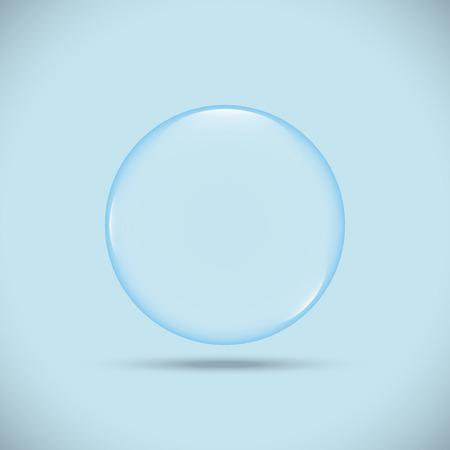 blue bubble illustrator Çizim